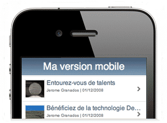 smartphone - version site mobile
