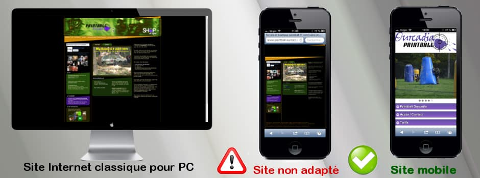 Slide comparatif site mobile