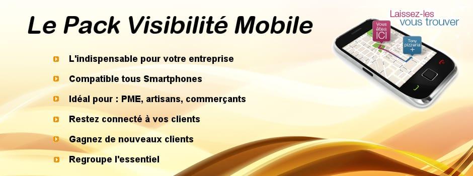 Pack visibilité web mobile - référencement naturel local - seo mobile