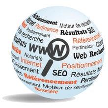 Audit de référencement loupe sur monde web